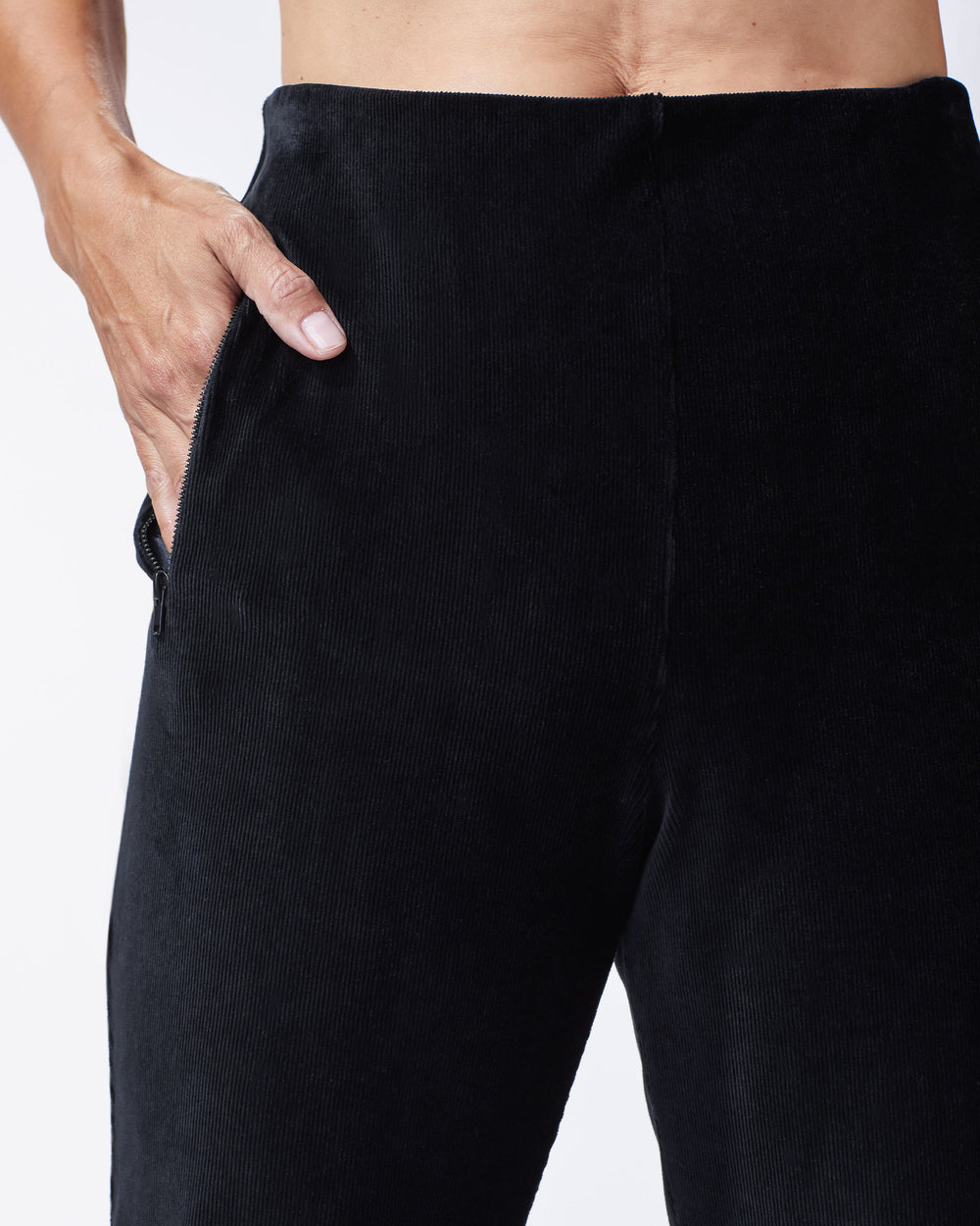 Stoke Ribbed Pant - Black