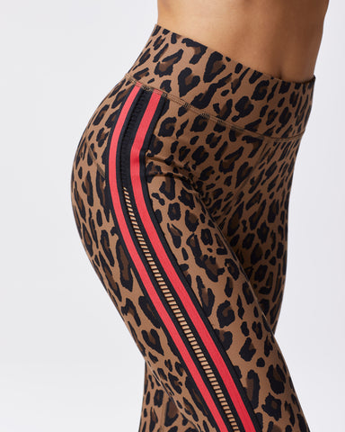 Strike Leopard Print Legging - Brown