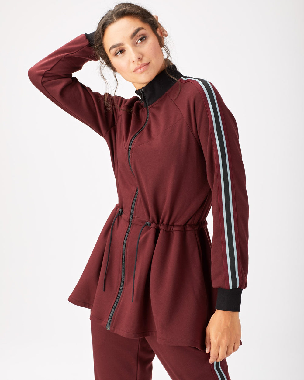 Turbo Track Jacket - Wine