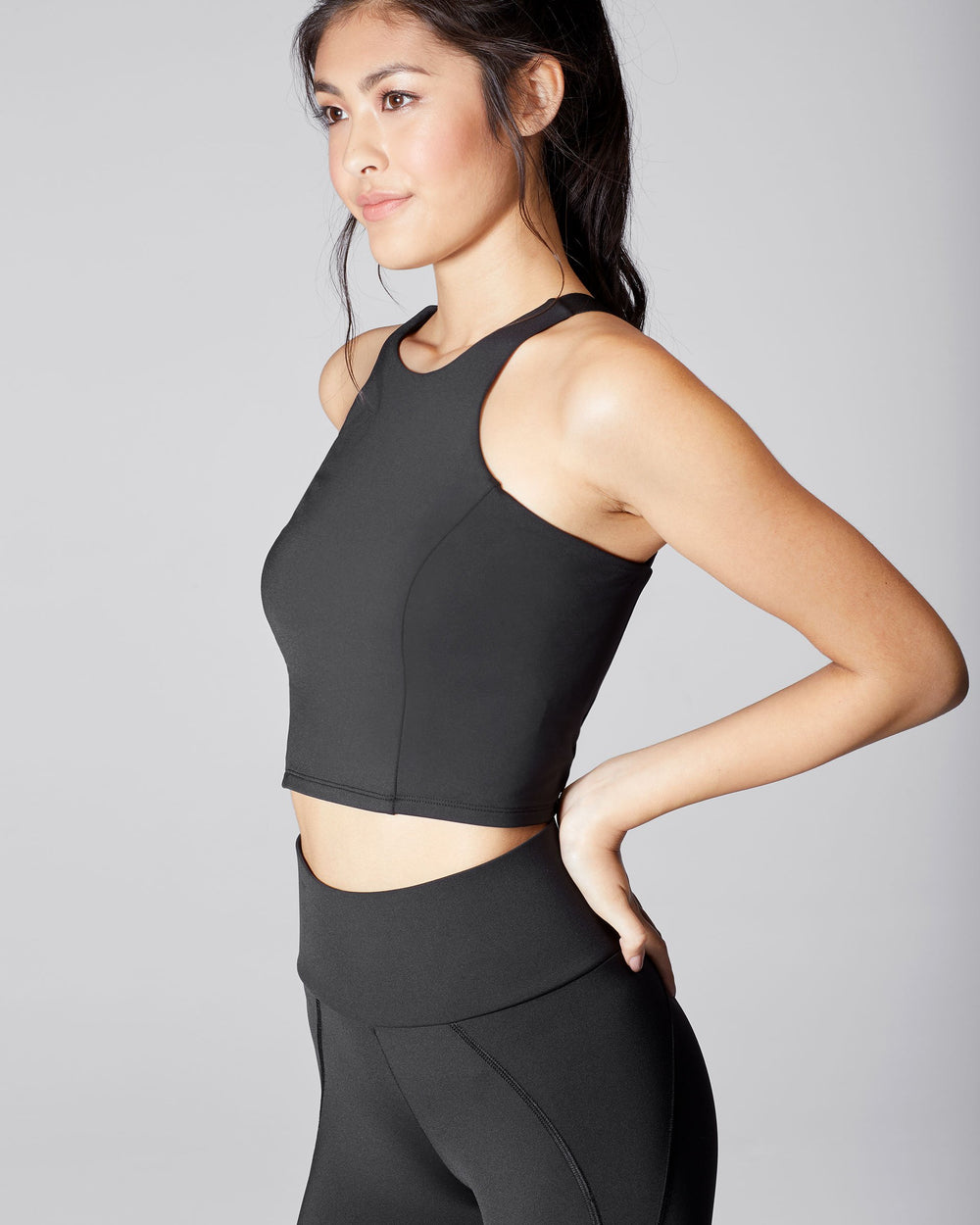 Vibe Crop Top - Black