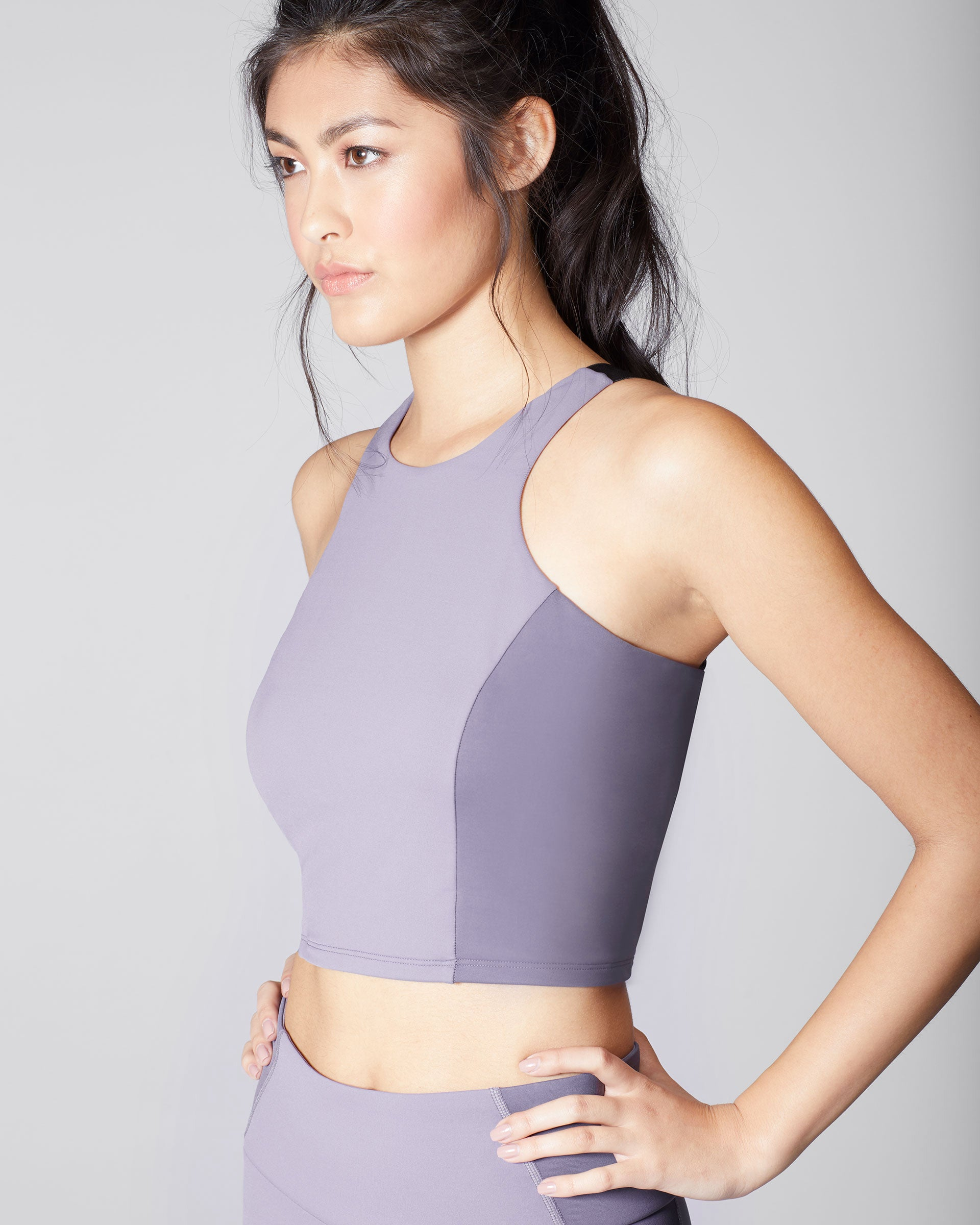 Vibe Crop Top - Mauve