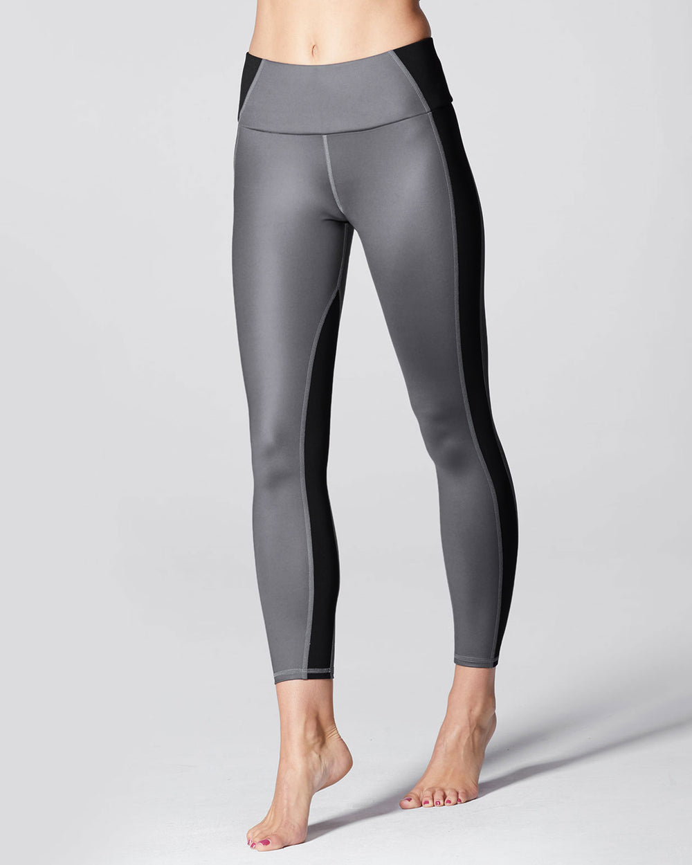 Vibe High Waisted Legging - Gunmetal