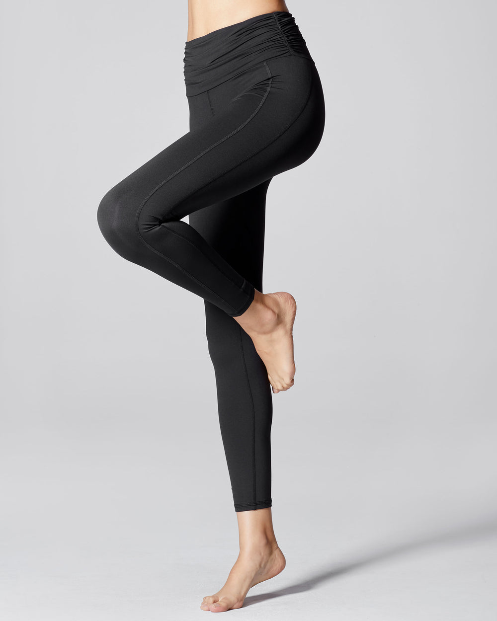 Wave High Waisted Legging - Black