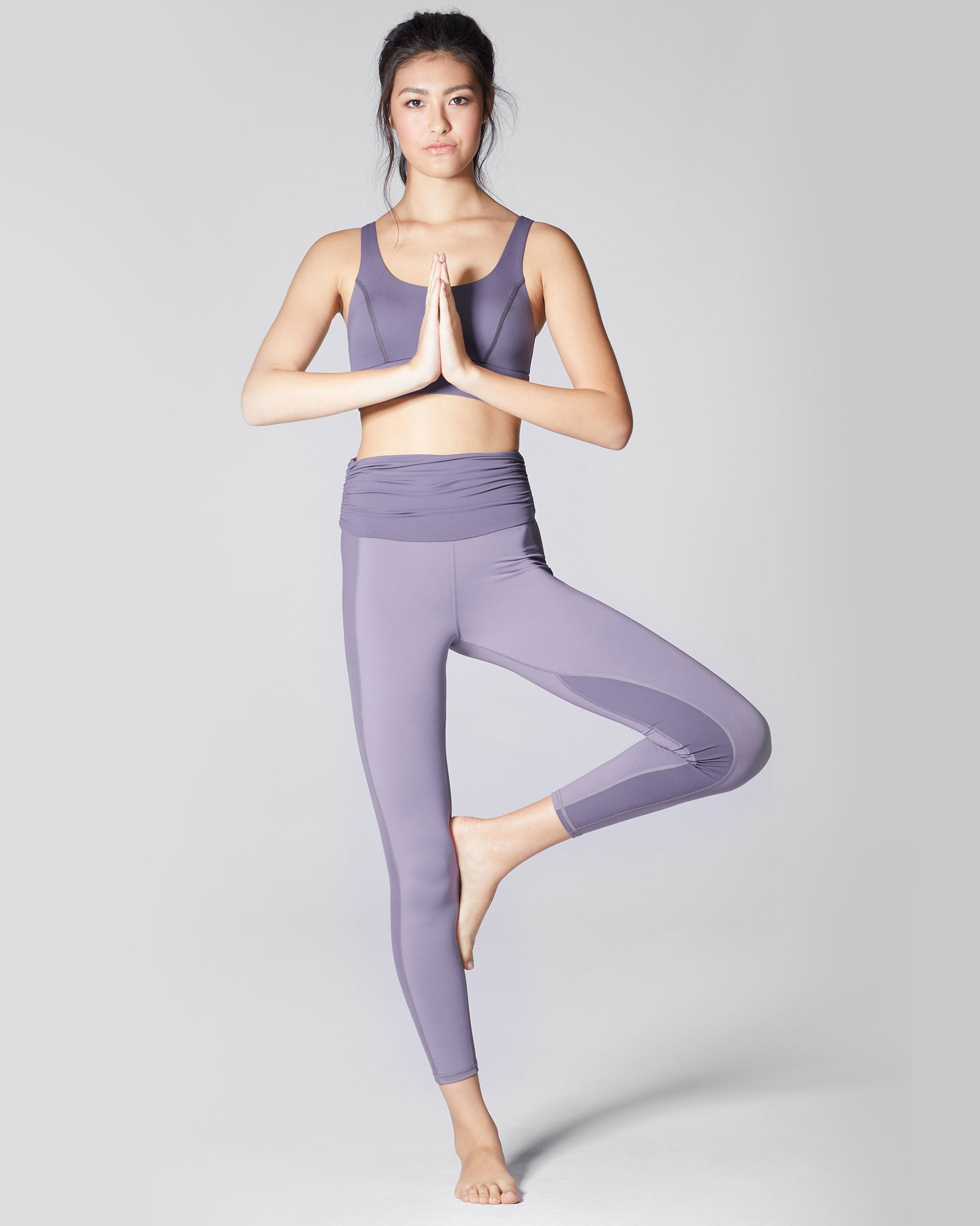 Wave High Waisted Legging - Mauve