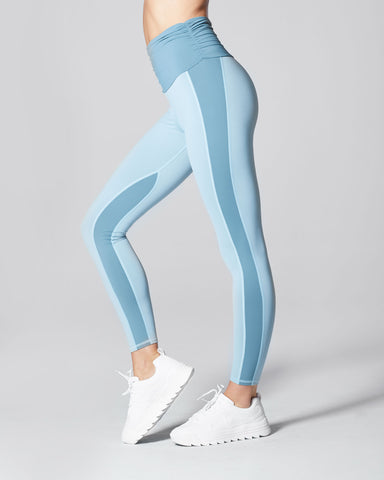Wave High Waisted Legging - Sky