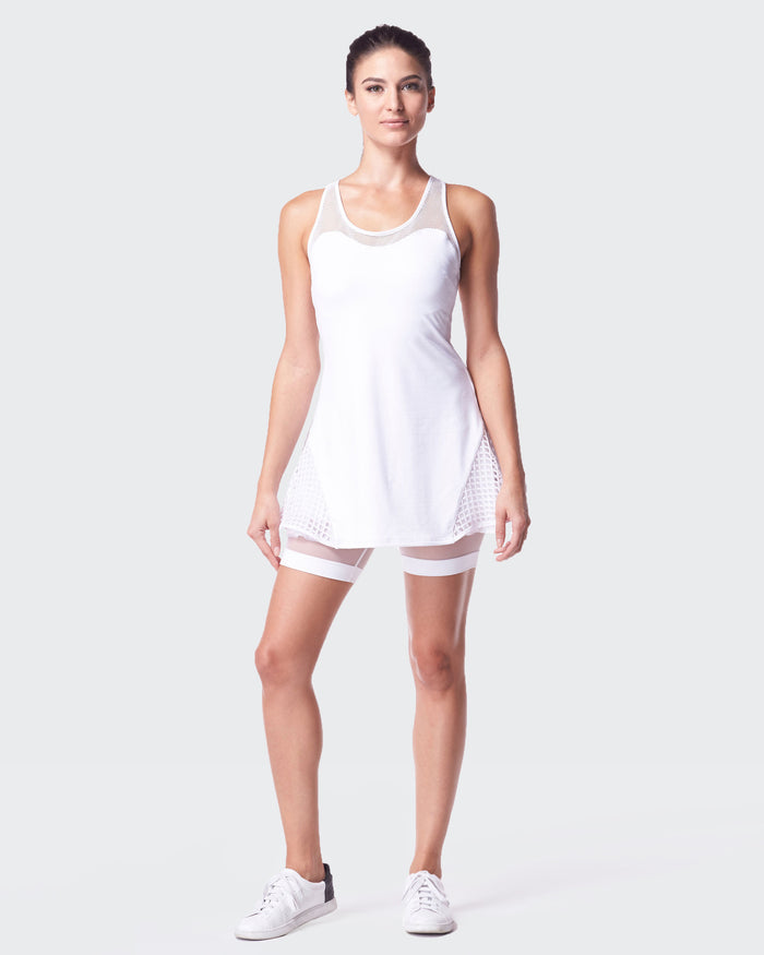Antigravity Tennis Dress - White