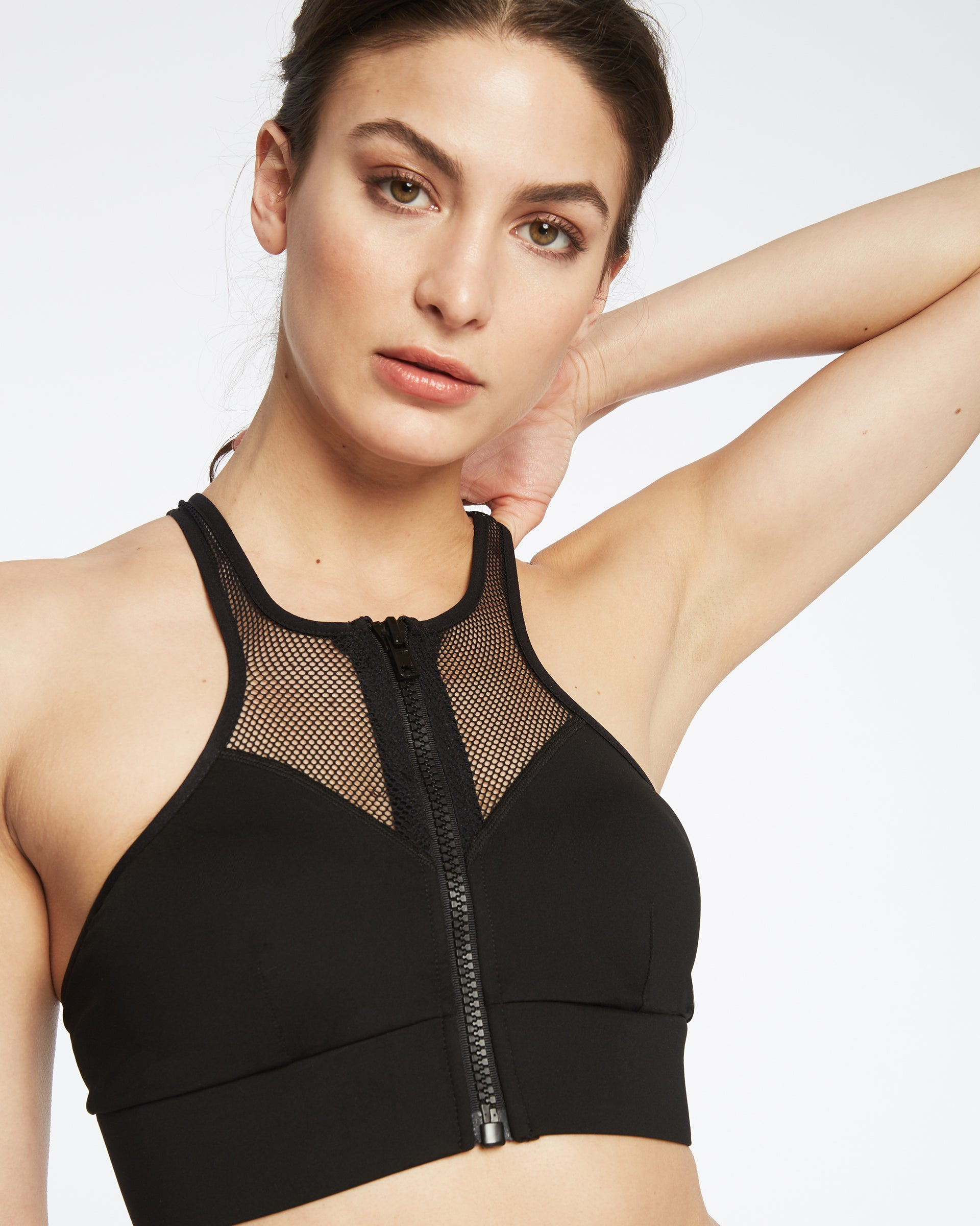 Avalon Zip Bra - Black
