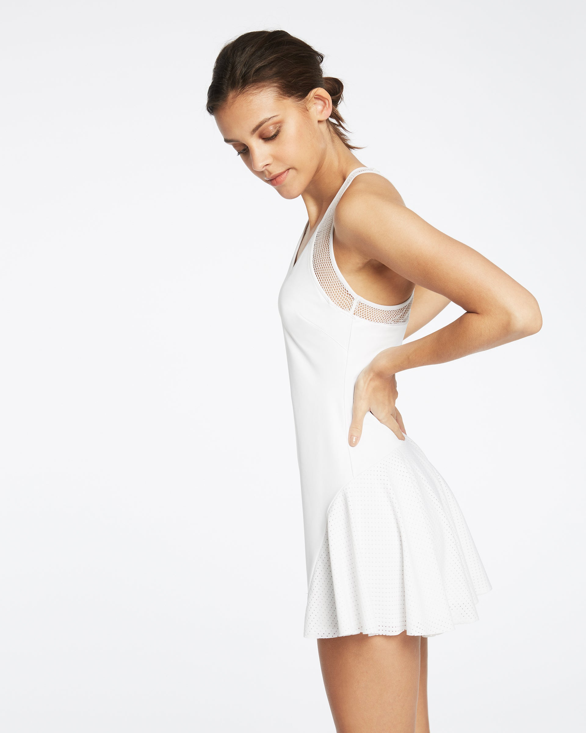 Baseline Tennis Dress - White