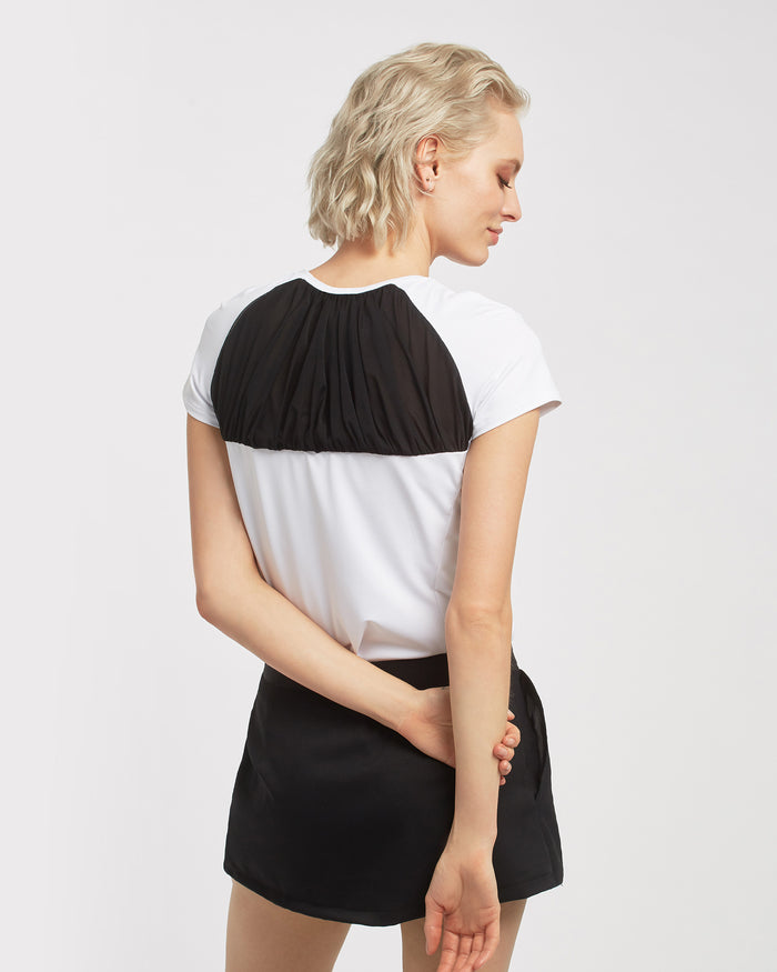 Birdie Top - White/Black