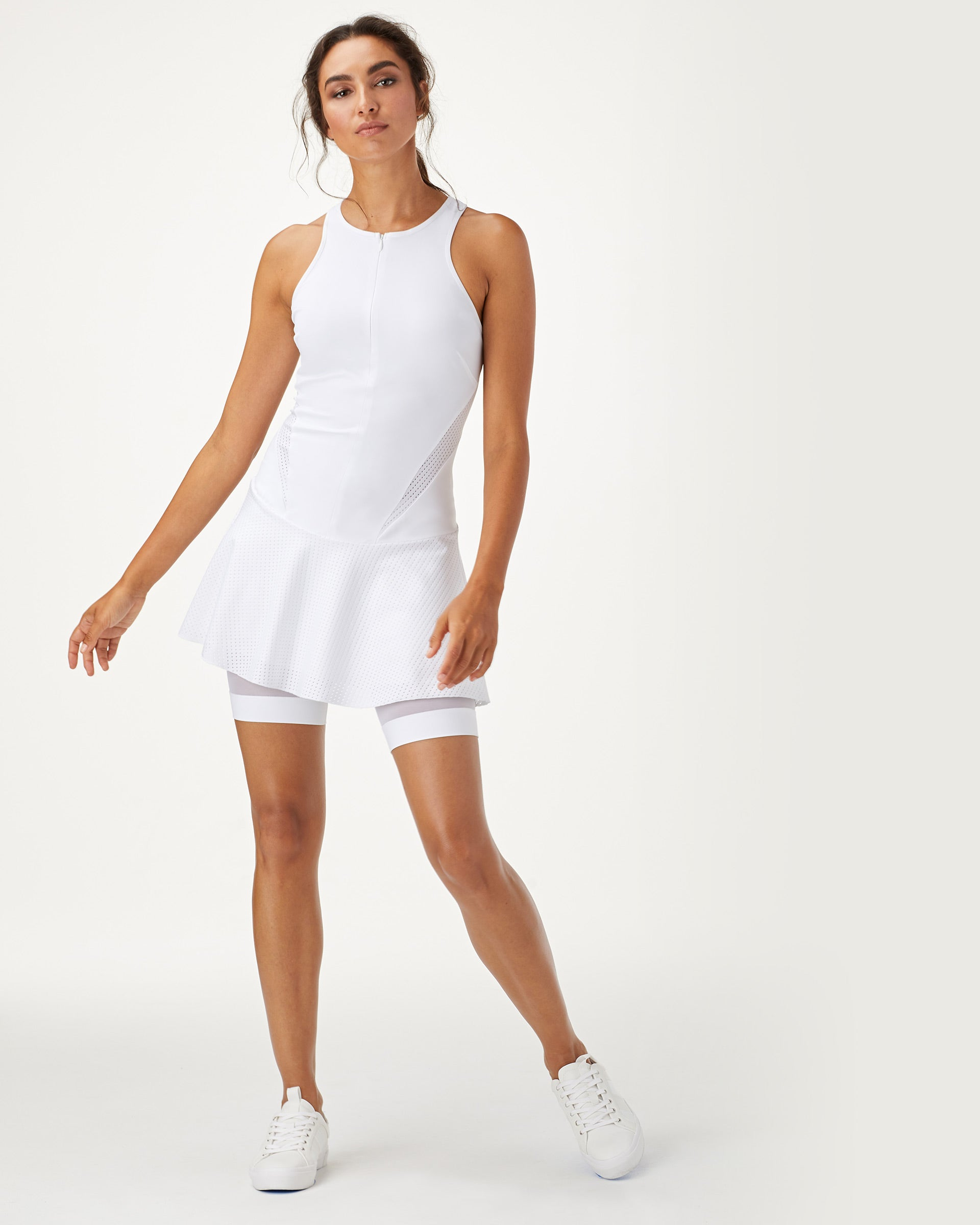 Drop Tennis Dress - White