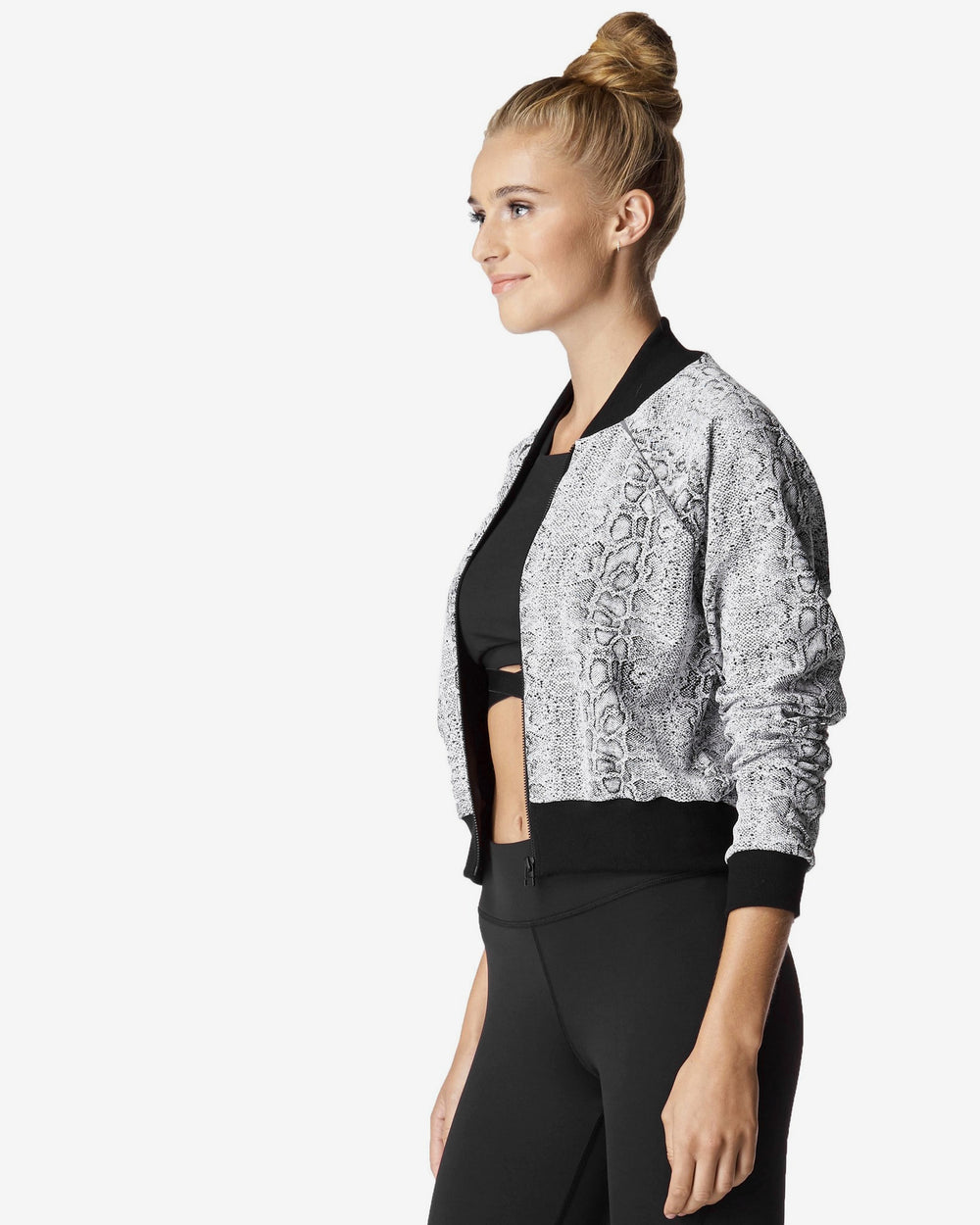 Flash Jacket - Black White Python