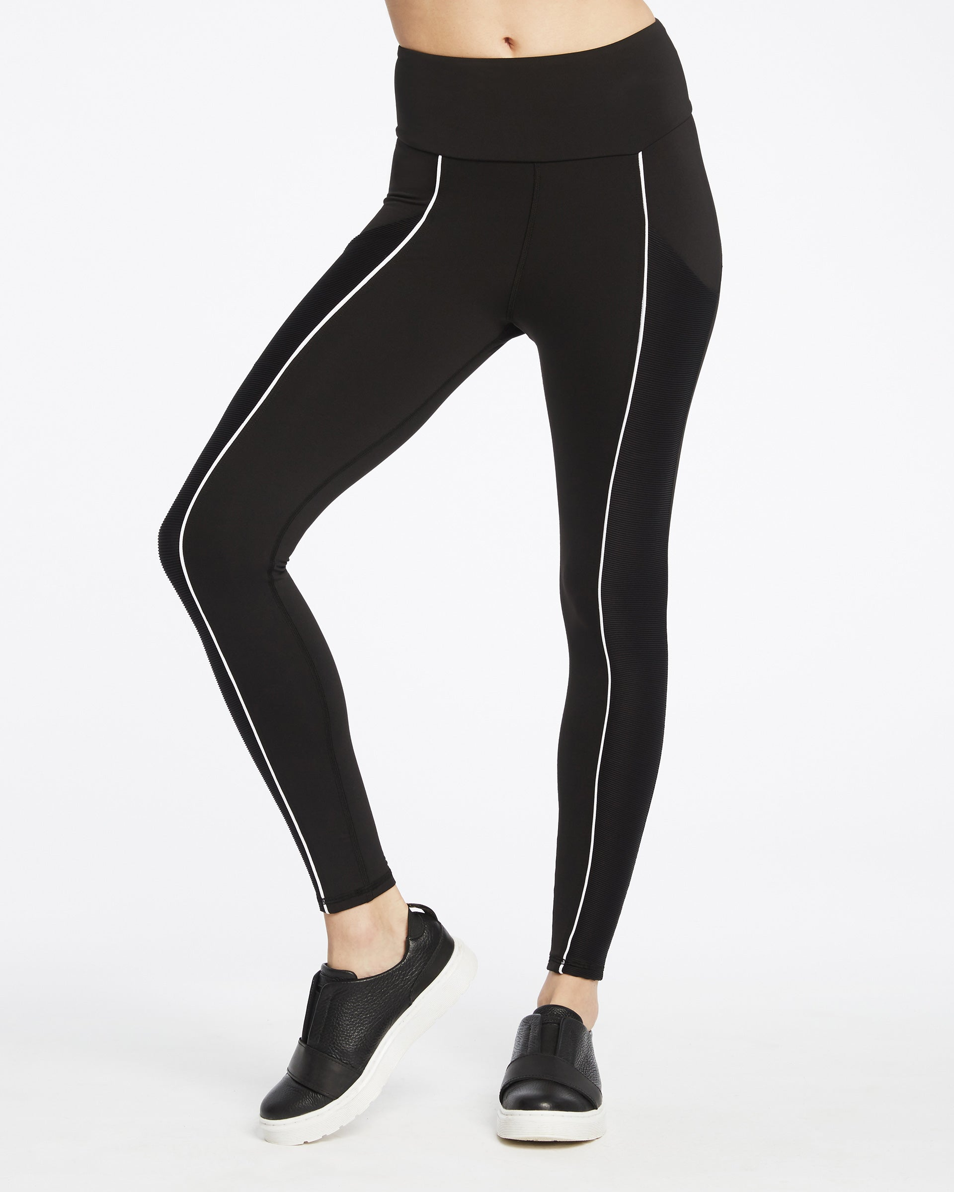 Gradient Pocket Legging - Black/White