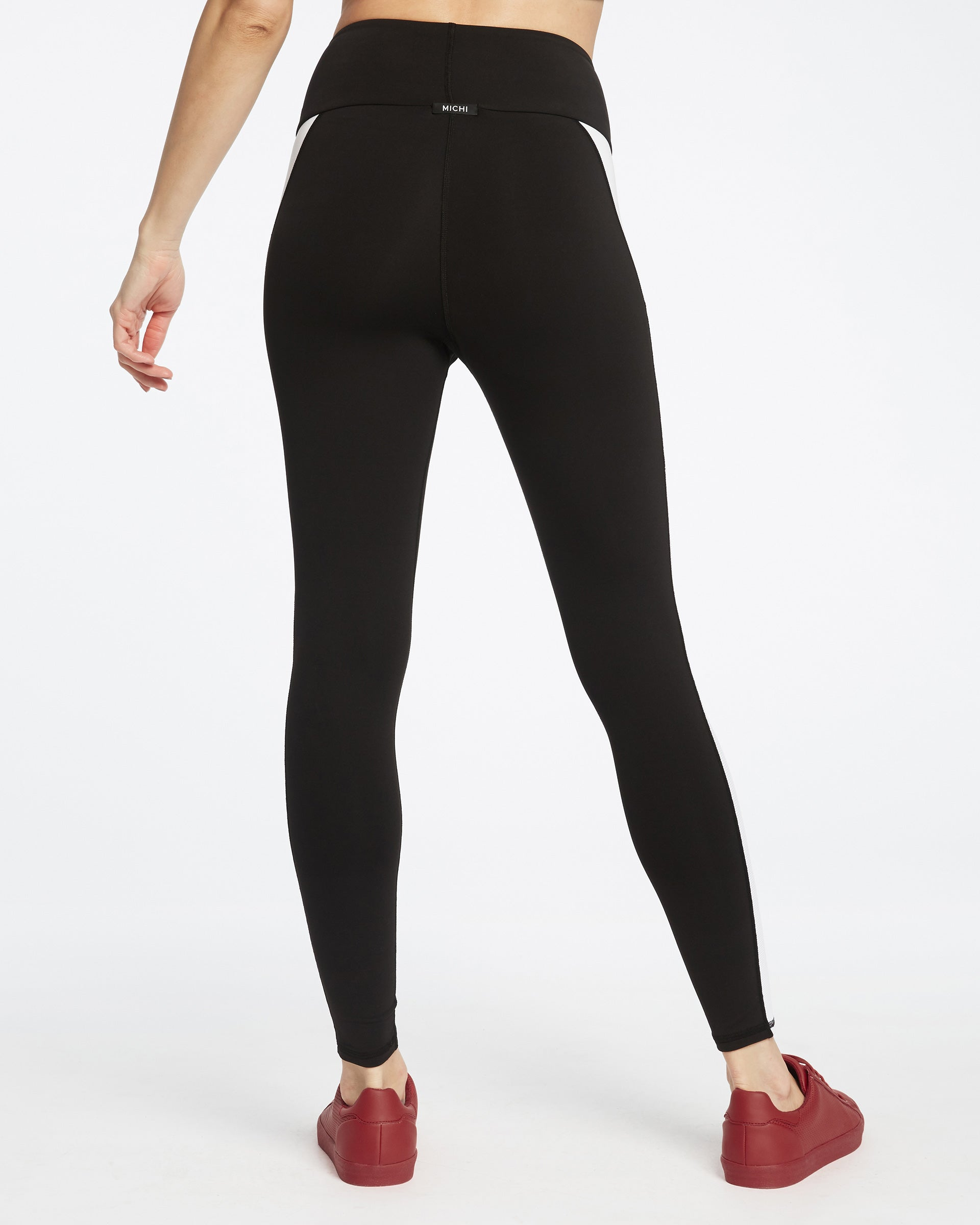 Gradient Pocket Legging - Black/White/Wine