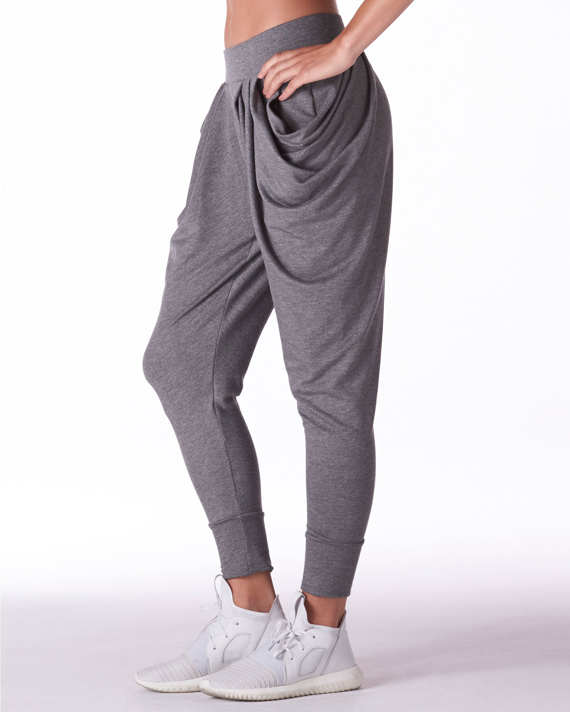 Imperial Harem Pant - Heather Grey