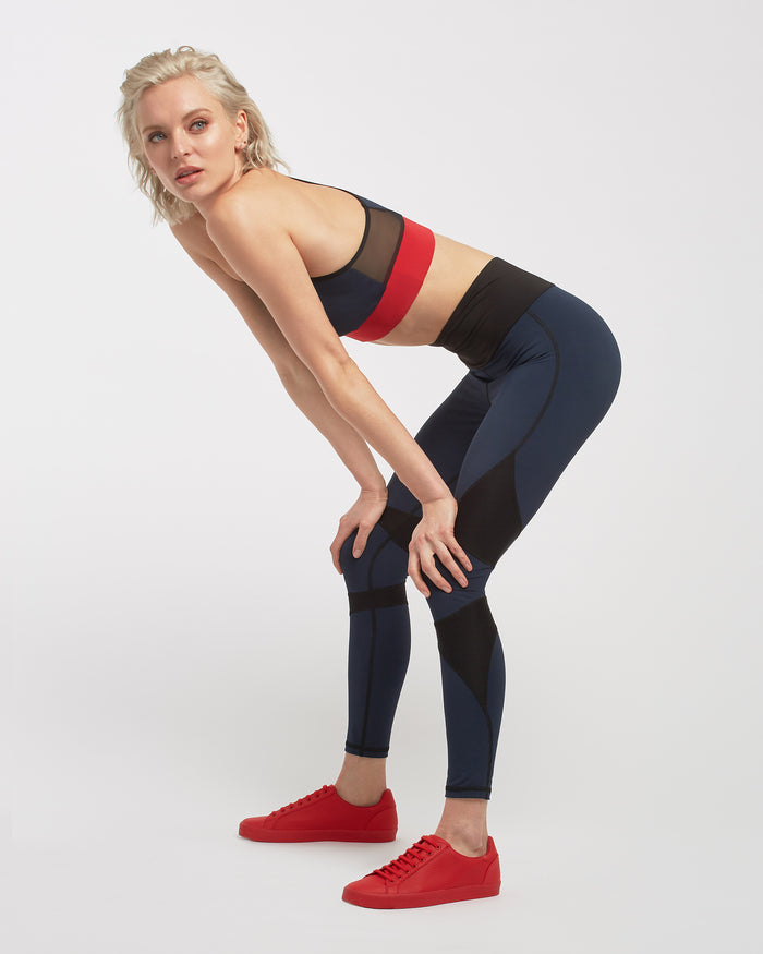 Inversion Bra - Deep Sea Navy/Fire Red