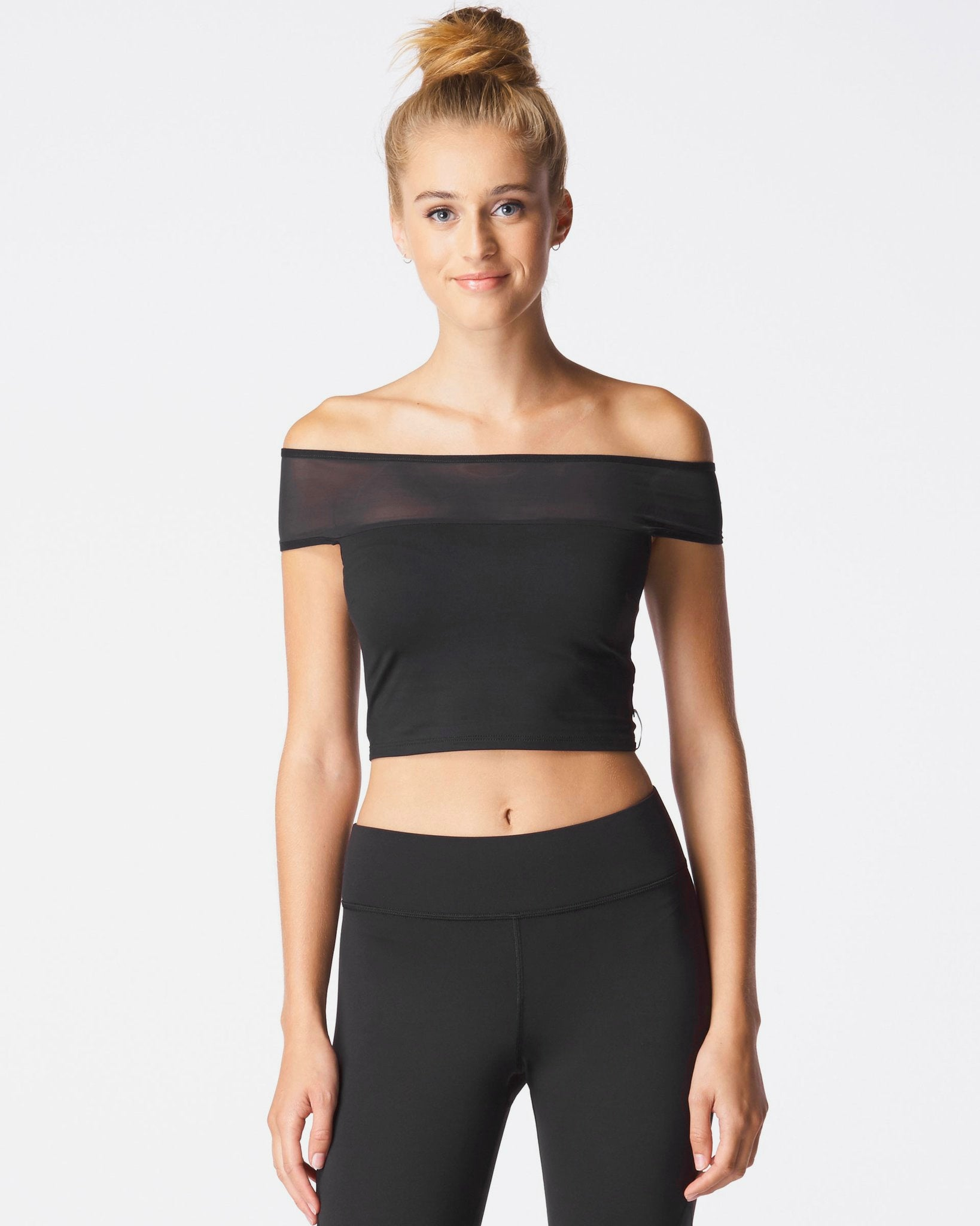 lightning-crop-top-black