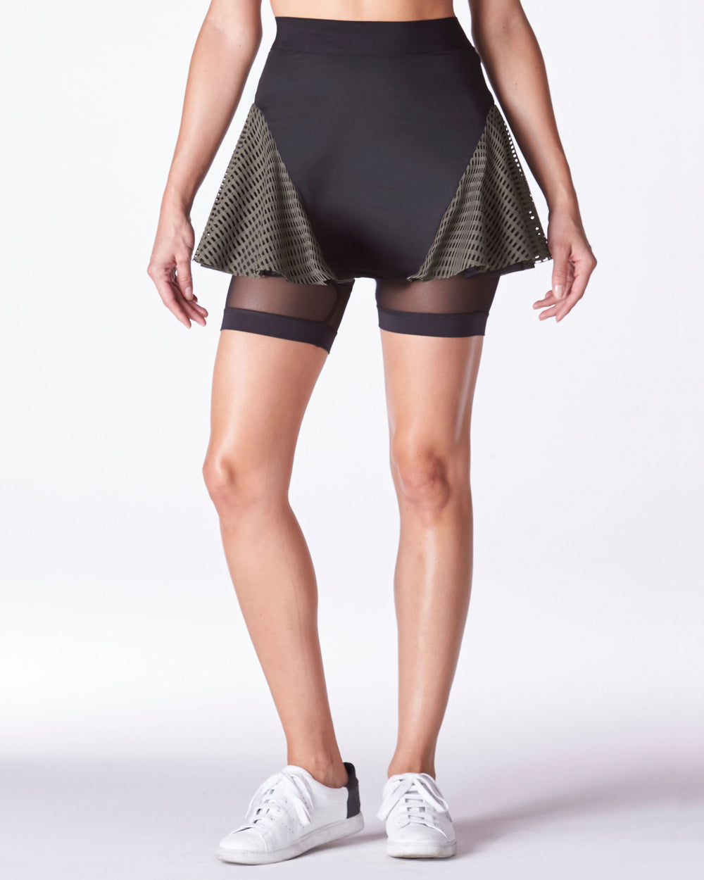 Majors Tennis Skirt - Olive Black Grid