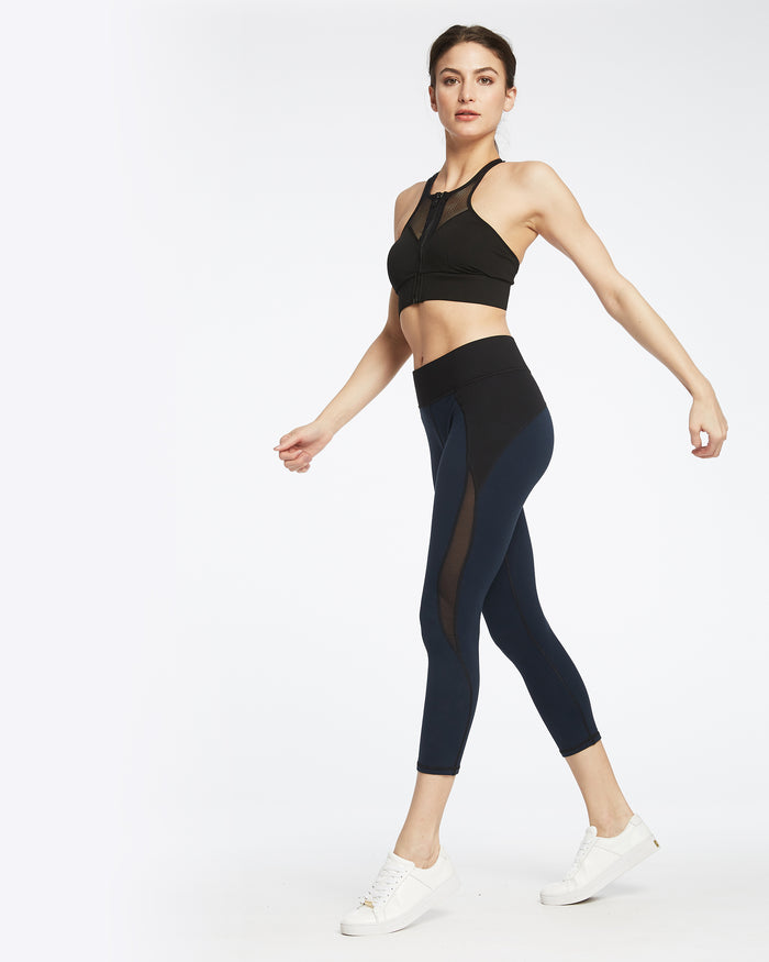 Medusa Crop Legging - Navy