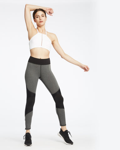Moto Zip Legging - Heather Grey