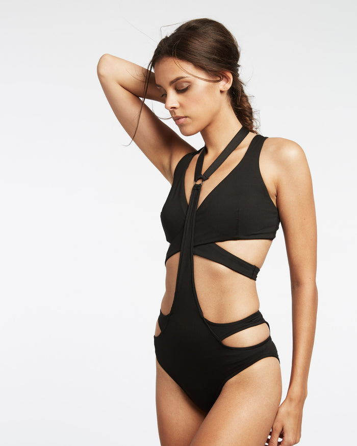 Splice Harness Swim Bottom - Black