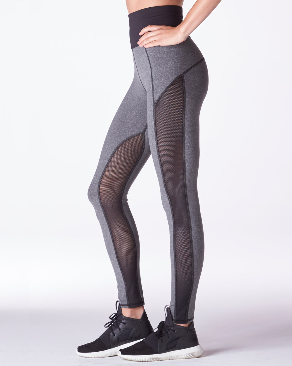 Summit High Waisted Legging - Heather Grey