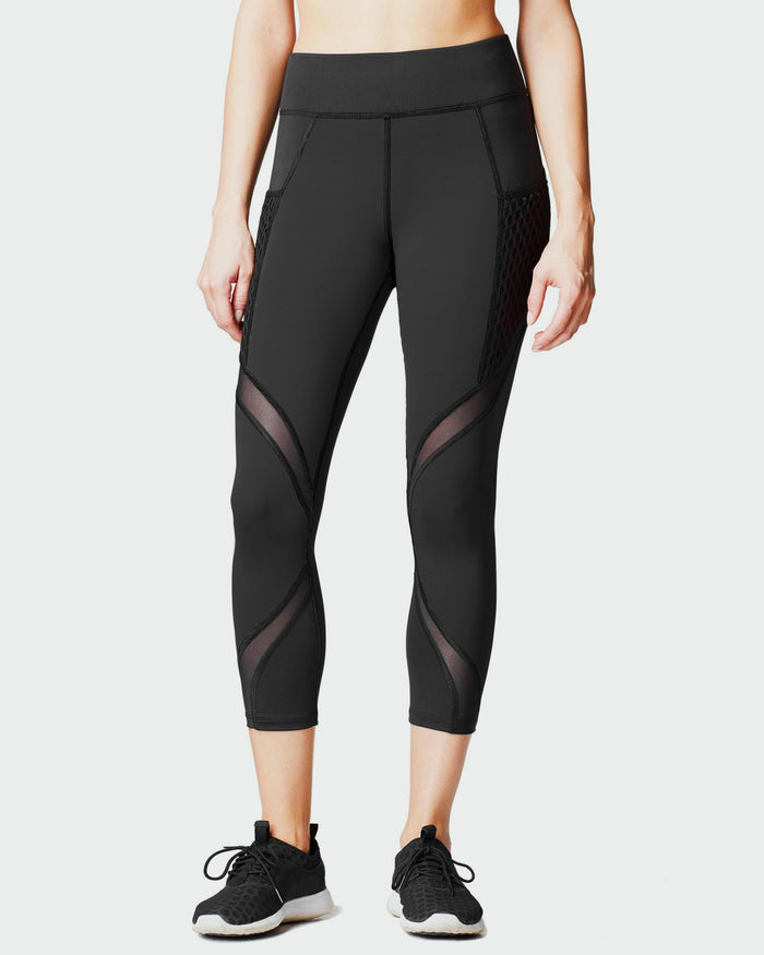 Suprastelle Crop Legging w/ Pocket - Black