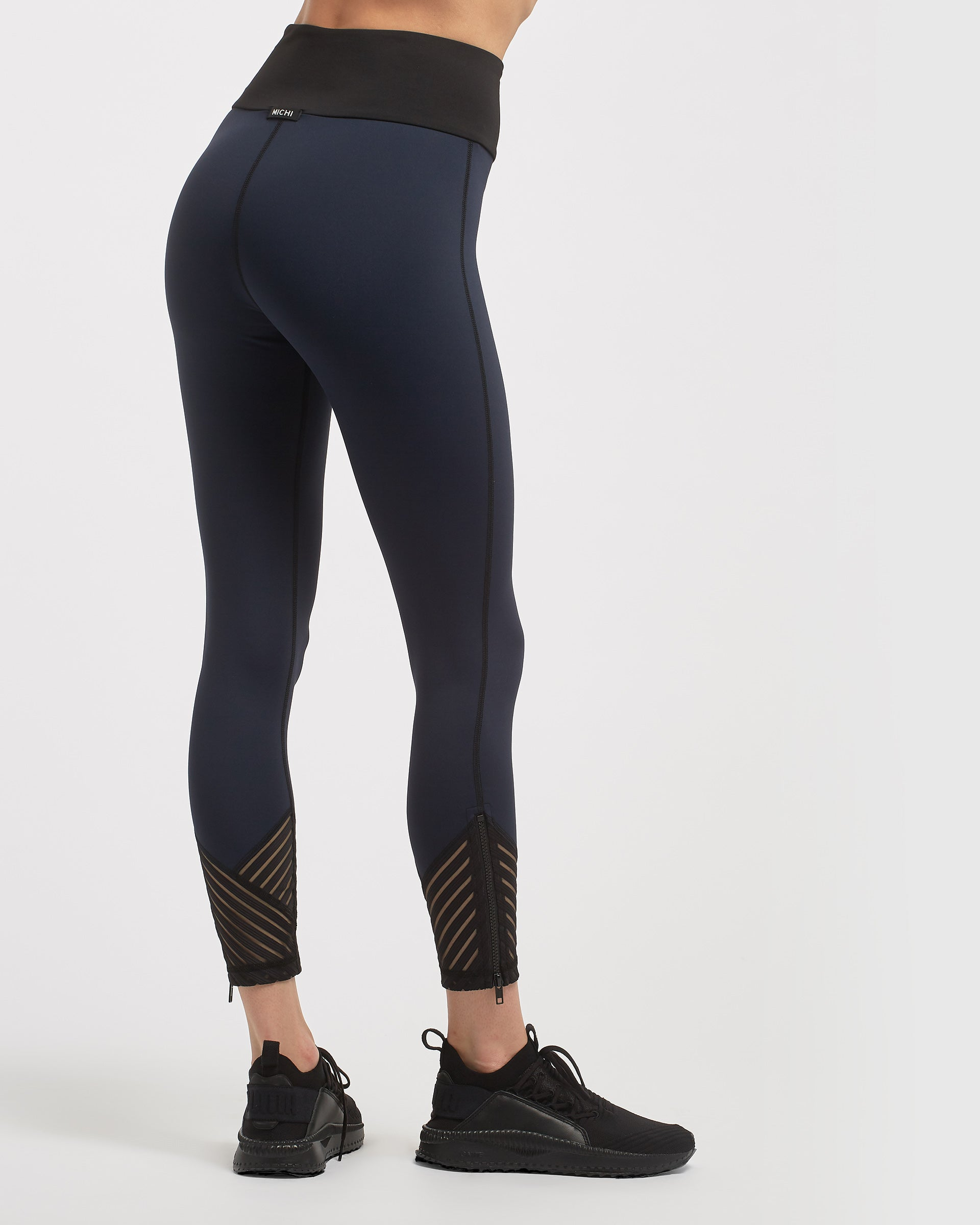 Tectonic High Waisted Legging - Deep Sea Navy
