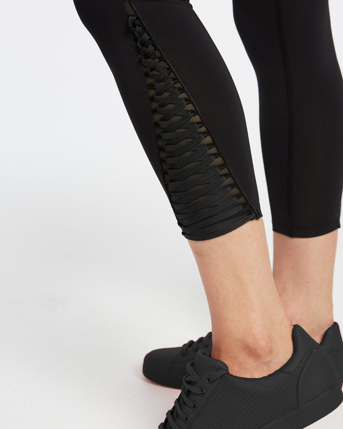 Tempest High Waisted Crop Legging - Black