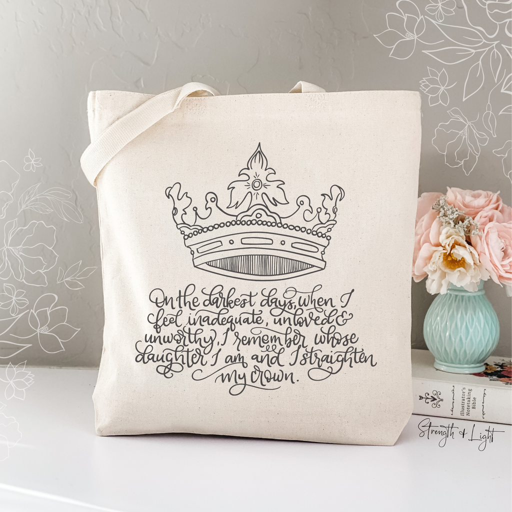 Daughter of the King Christian Tote Bag - Juliet Rose Boutique