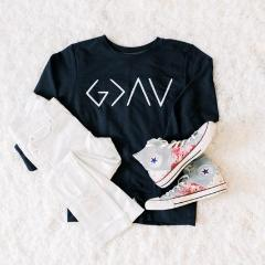 God Is Greater Sweater - Juliet Rose Boutique
