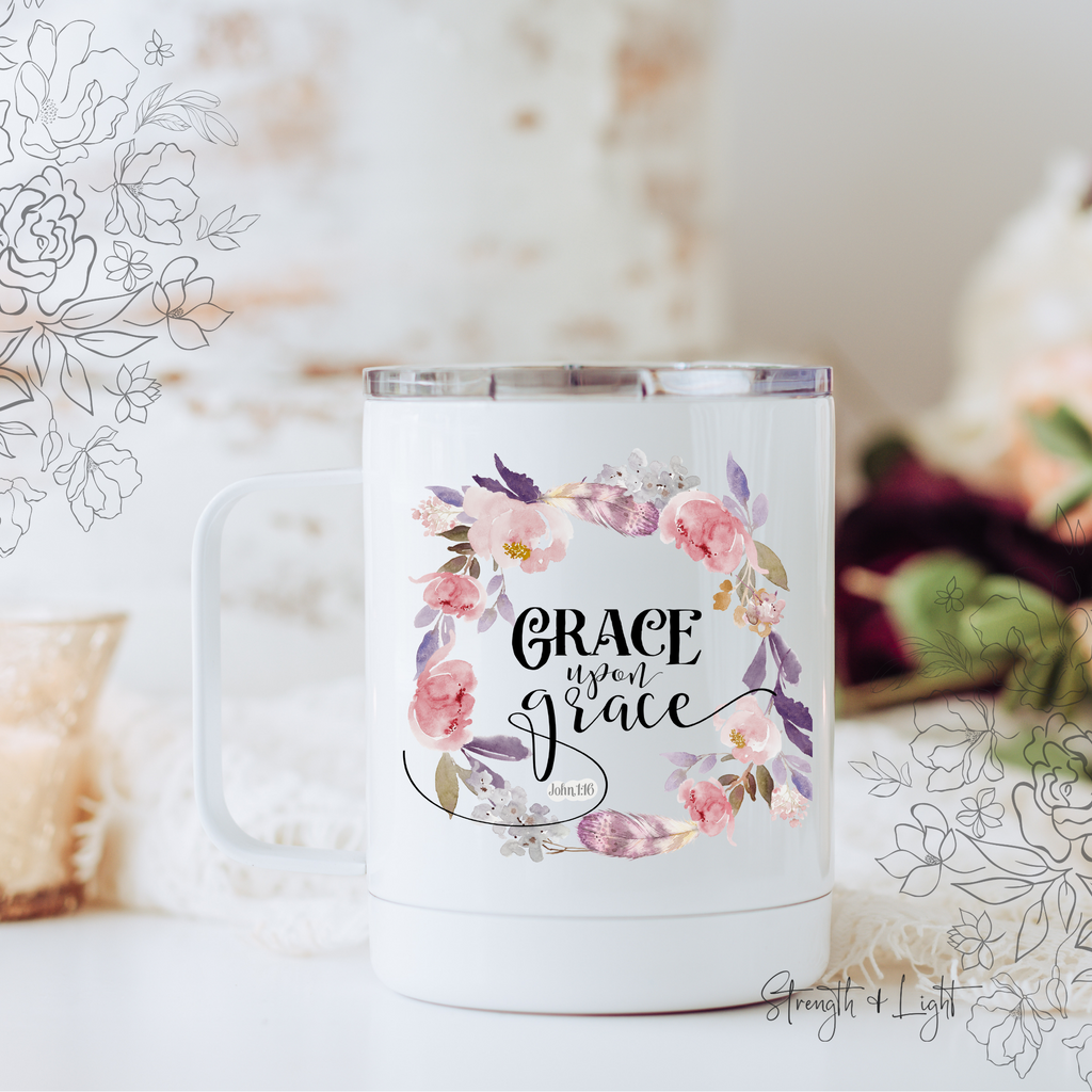 Grace Upon Grace Travel Mug - Juliet Rose Boutique
