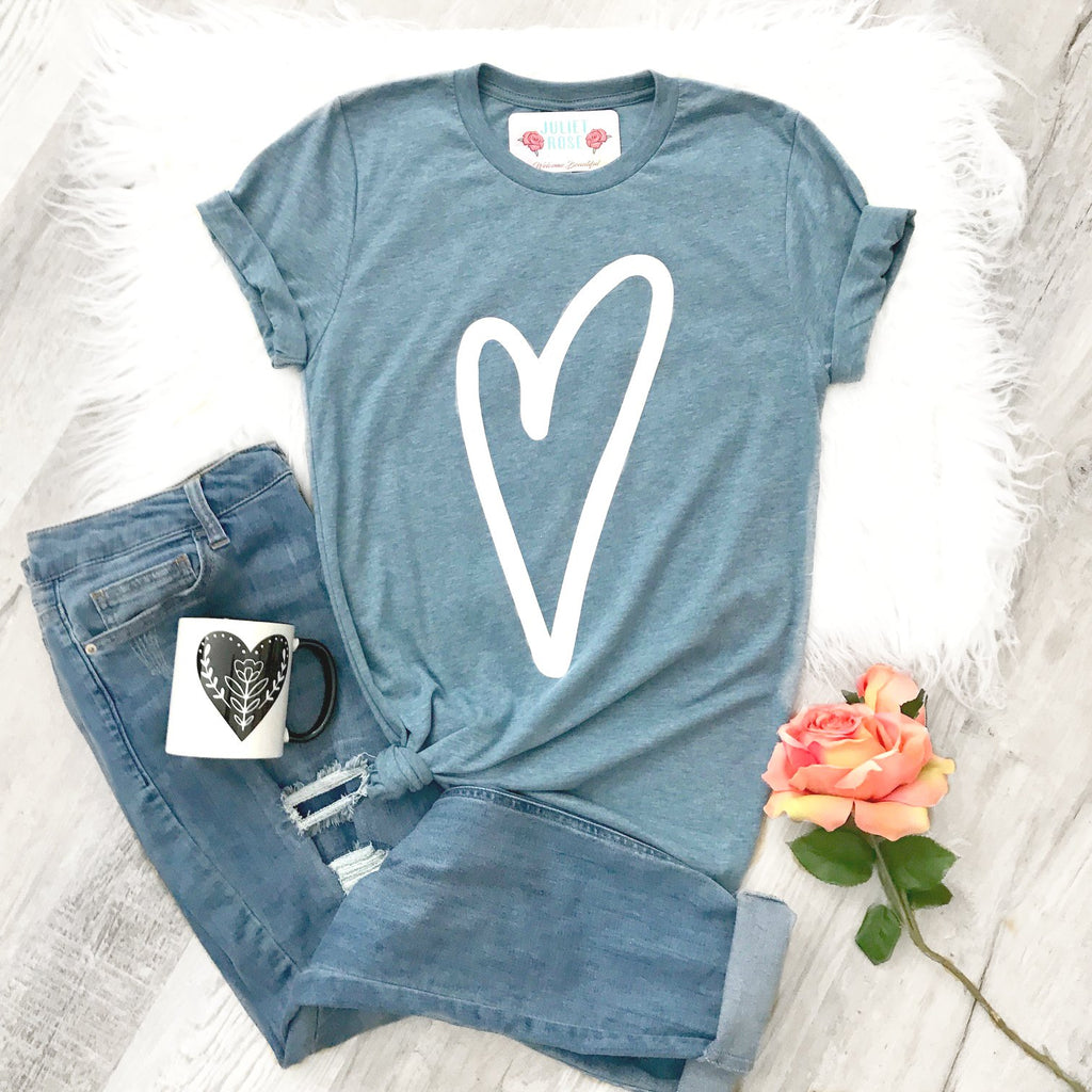 All My Love Heart Tee - Juliet Rose Boutique