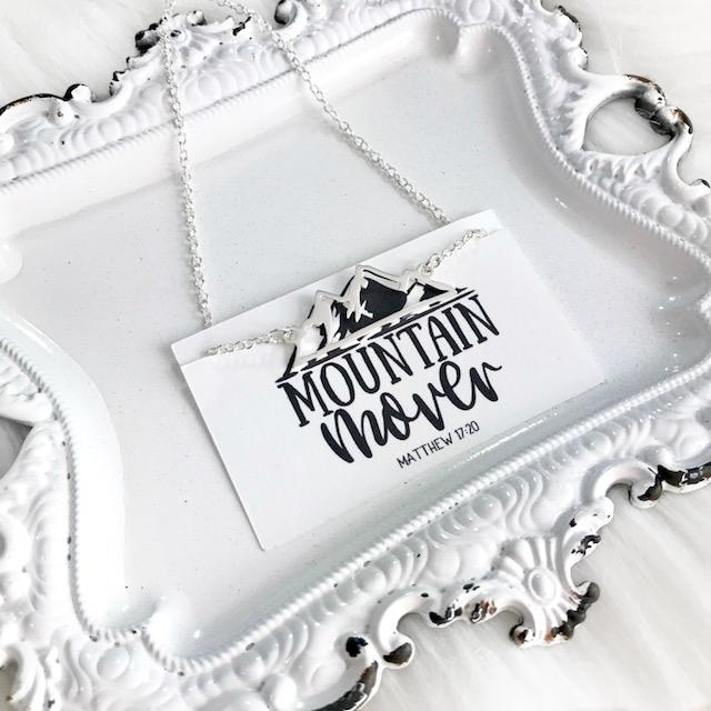Mountain Mover Christian Necklace - Juliet Rose Boutique