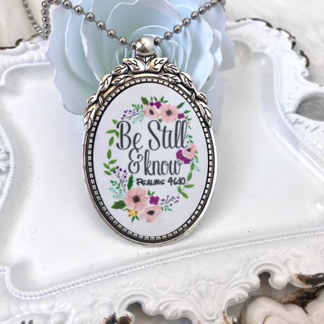 Be Still and Know Christian Necklace - Juliet Rose Boutique