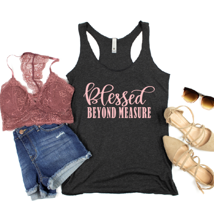 Blessed Beyond Measure Christian Tank Top - Juliet Rose Boutique