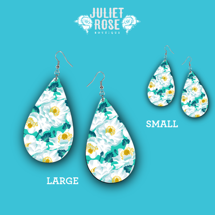 Touch of Floral Drop Earrings - Juliet Rose Boutique