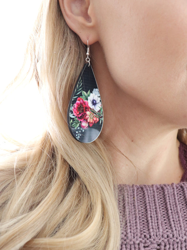 Floral Drop Earrings - Juliet Rose Boutique