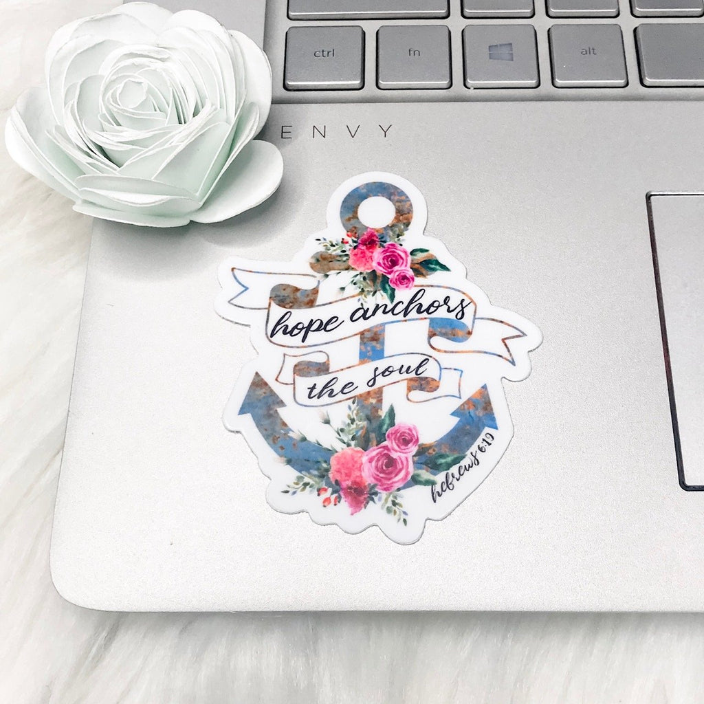 Hope Anchors the Soul Christian Sticker - Juliet Rose Boutique