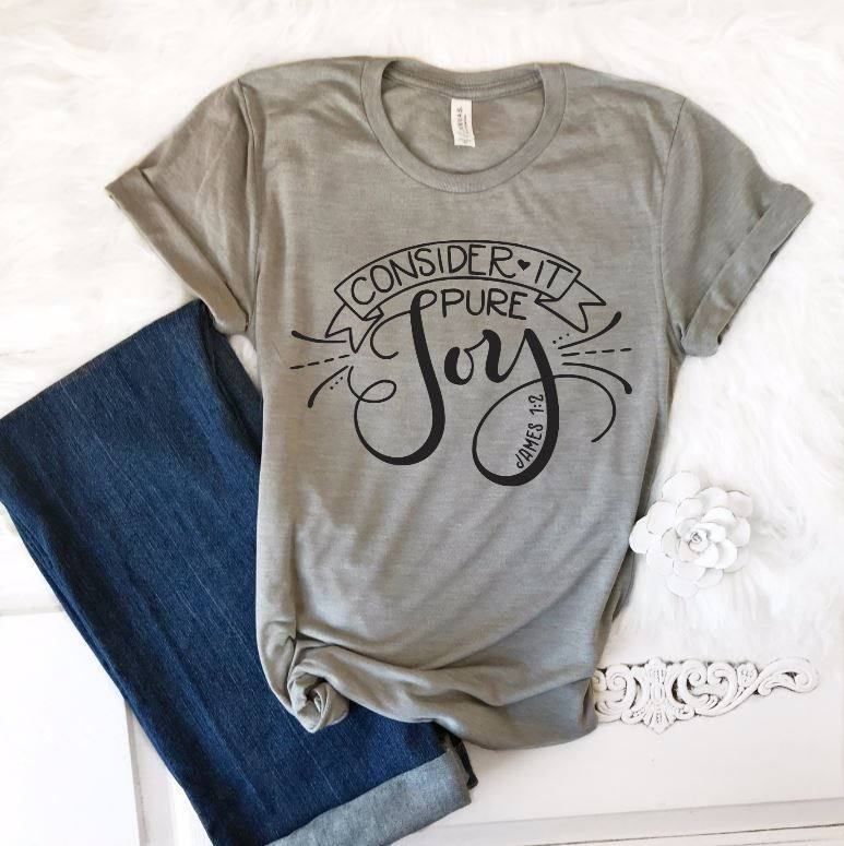 Count It All Joy T-Shirt - Juliet Rose Boutique