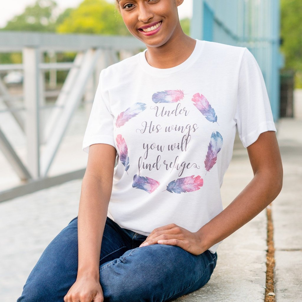 Under His Wings Tee - Juliet Rose Boutique