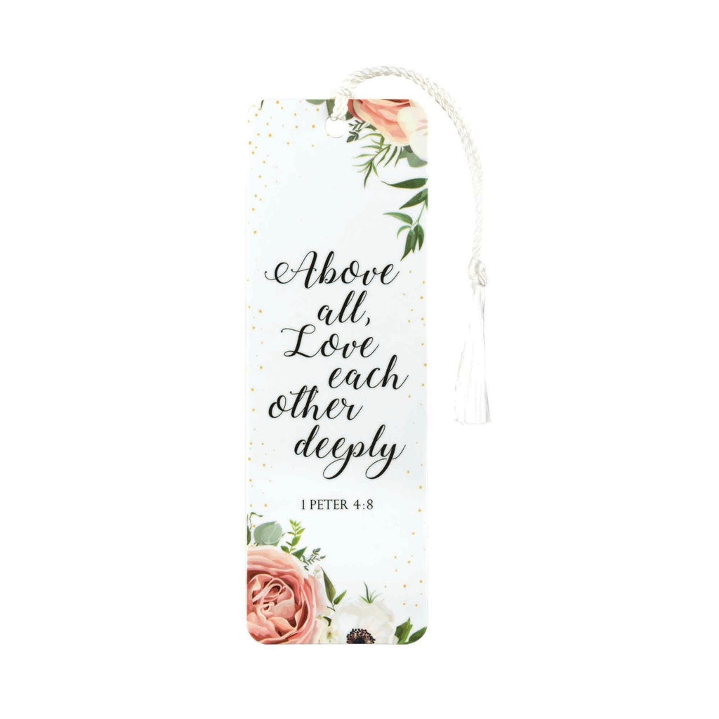 Above All Love Bookmark with Tassel - Juliet Rose Boutique