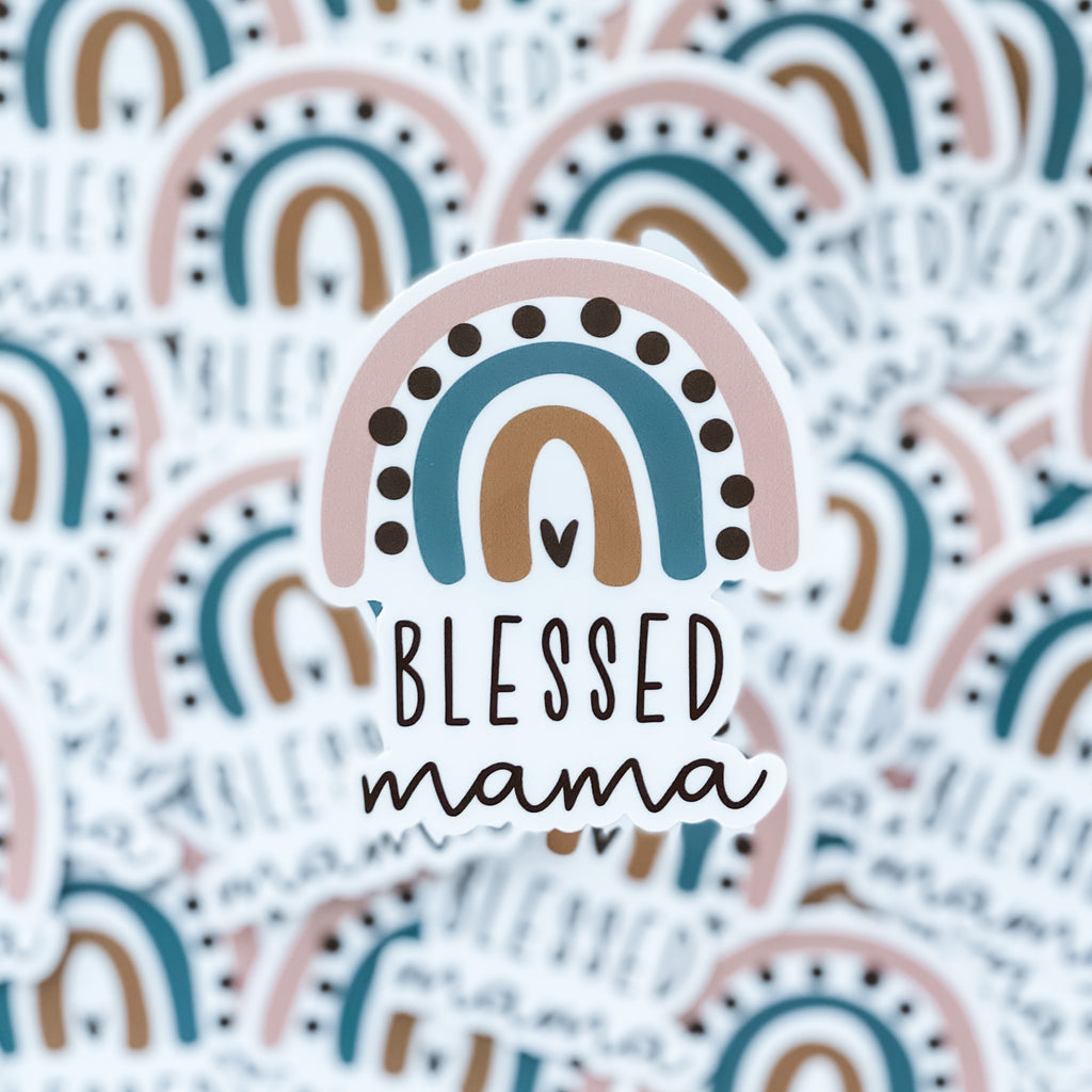 Blessed Mama Sticker - Juliet Rose Boutique