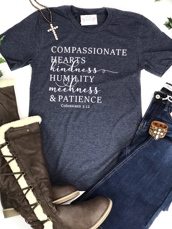 Colossians 3:12 Christian T-Shirt - Juliet Rose Boutique