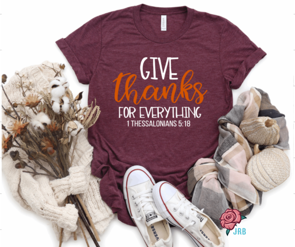 Give Thanks Tee - Juliet Rose Boutique