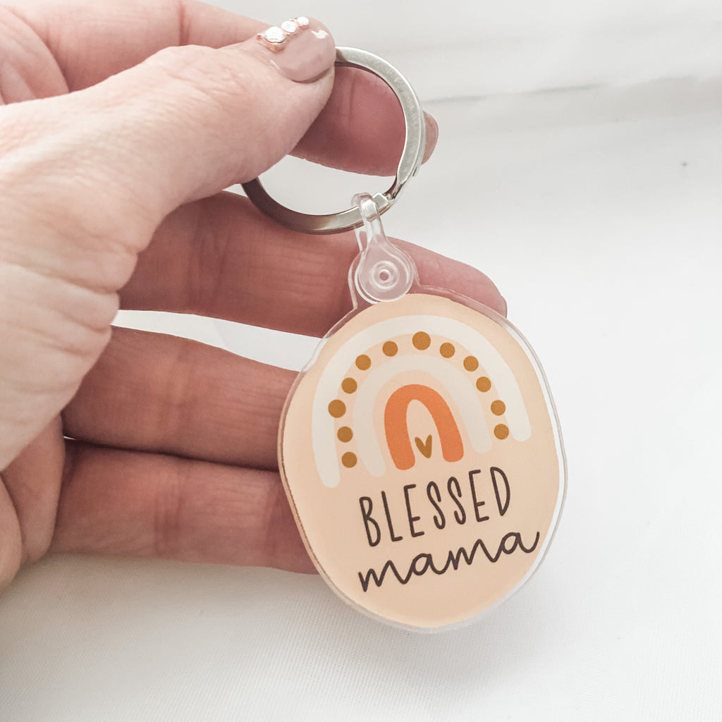 Blessed Mama Acrylic Keychain - Juliet Rose Boutique
