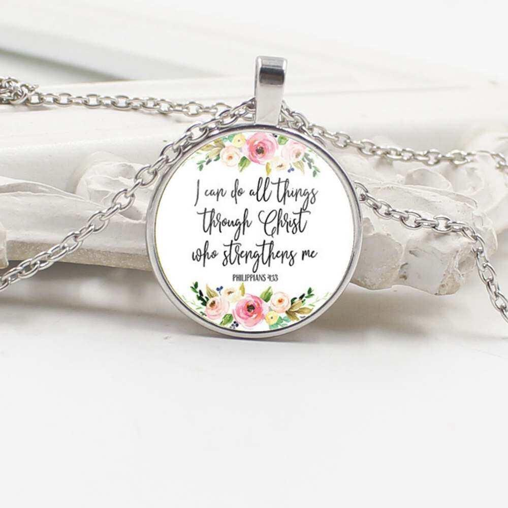 I Can Do All Things Through Christ Christian Necklace - Juliet Rose Boutique
