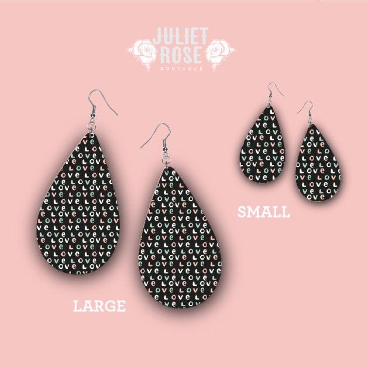 Love Valentine's Day Drop Earrings - Juliet Rose Boutique