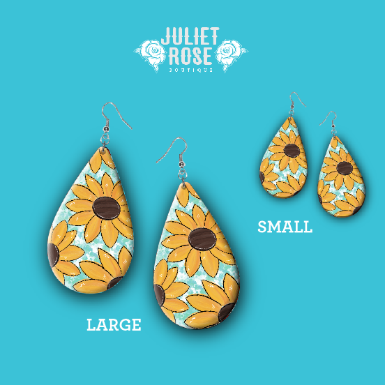 Sunflower Drop Earrings - Juliet Rose Boutique