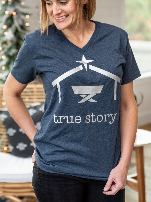 True Story Christmas V-Neck Tee - Juliet Rose Boutique