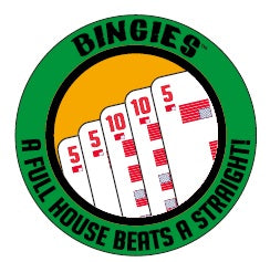 "Bingies Series 1 ""A Full House beats a Straight!"" 3-inch sticker"